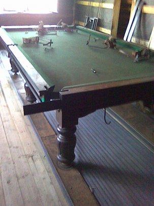 Реставрация стола для бильярда