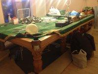 Монтаж стола Классик 2 с полной заменой сукна