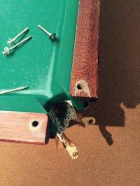 Реставрация 12 ф, востановлены борта и заменены лузы