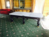 Монтаж 4-х столов с заменой сукна